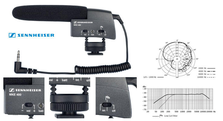 Sennheiser MKE 400 Camera Mount Shotgun Microphone 3