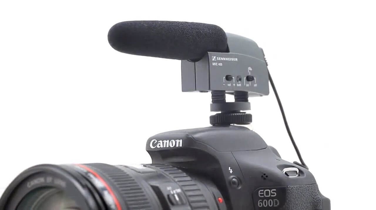Sennheiser MKE 400 Camera Mount Shotgun Microphone 8