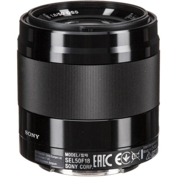 Sony E 50mm f1.8 OSS Lens Black2