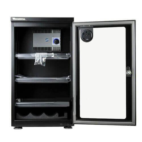 Wonderful AD 050C Glass Door Dry Cabinet Camera Lens Electronic Dehumidify 50L 2
