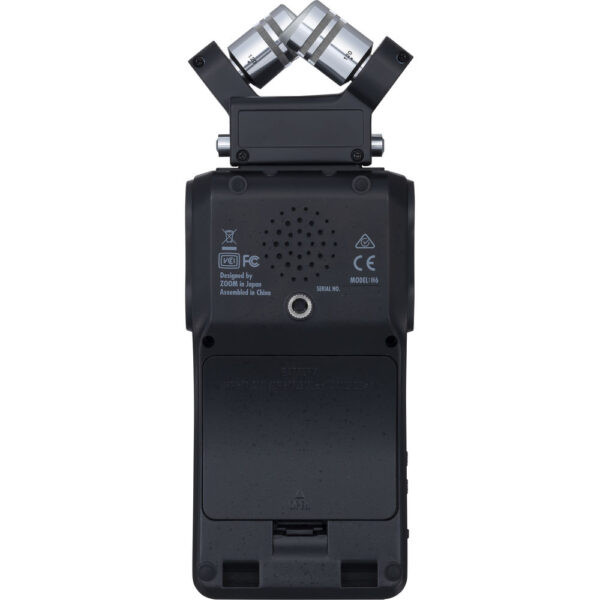 Zoom H6 All Black 6 Input 6 Track Portable Handy Recorder with Single Mic Capsule Black 3
