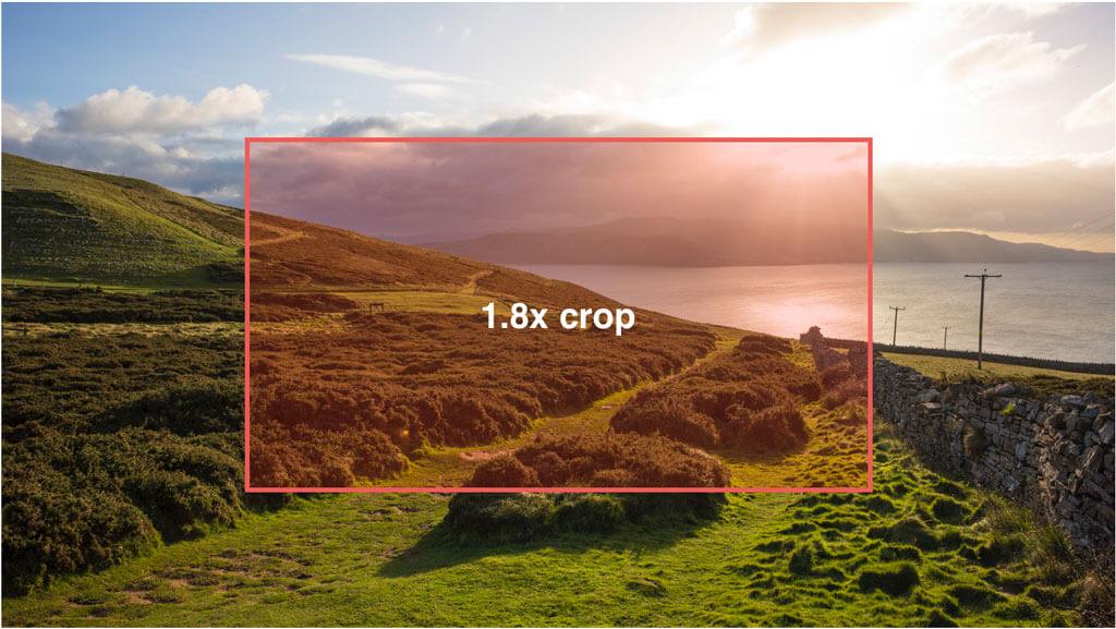EOS R5 vs EOS R 4K video no crop vs crop