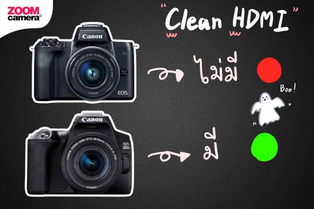 canon m50 vs canon 200d ii clean hdmi