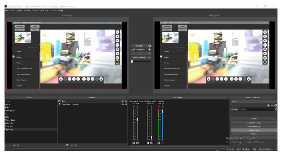 Digicam Control with obs