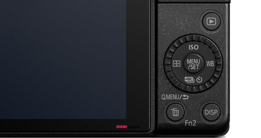 รีวิว  Panasonic  Lumix G100 4 way button
