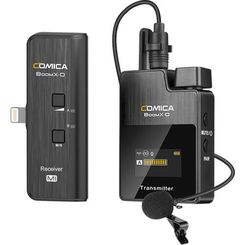 Comica Audio BoomX-D MI1 Ultracompact Digital Wireless Microphone System for iOS Smartphones