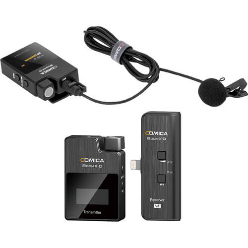 Comica Audio BoomX D MI2 Ultracompact 2 Person Digital Wireless Microphone System for iOS Smartphones 2.4 GHz 3