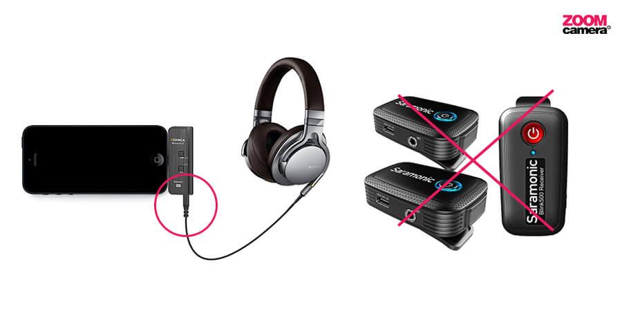 Comica-boomX-vs-Saramonic-Blink-500_ต่อหูฟังได้