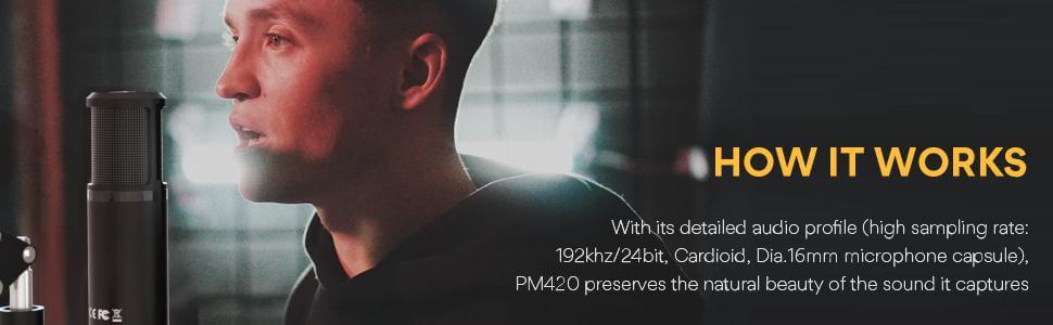 Maono AU-PM422 Monitorable USB Condenser Microphone Set