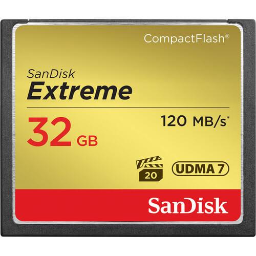 SanDisk 32 GB Extreme CompactFlash Memory Card 2
