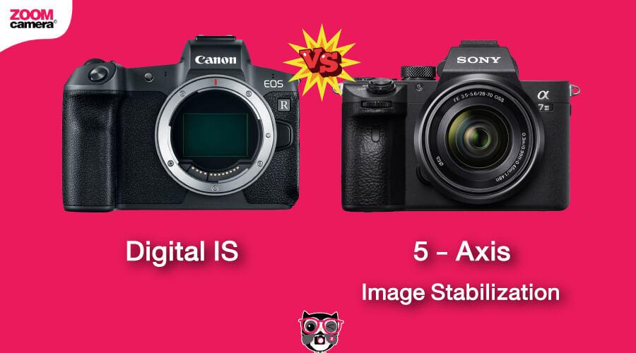 เปรียบเทียบ Canon EOS R vs Sony A7 III ระบบกันสั่น