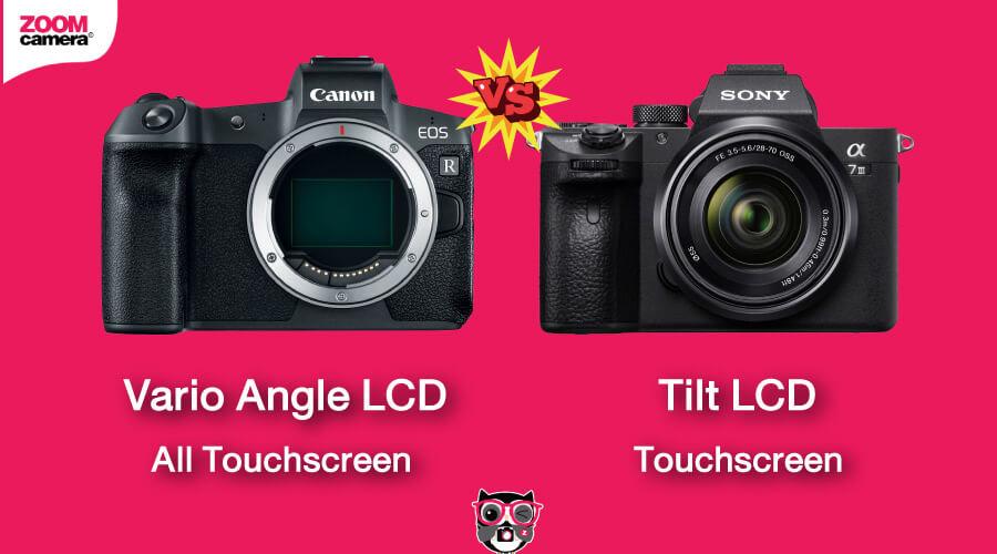 เปรียบเทียบ Canon EOS R vs Sony A7 III จอพับ