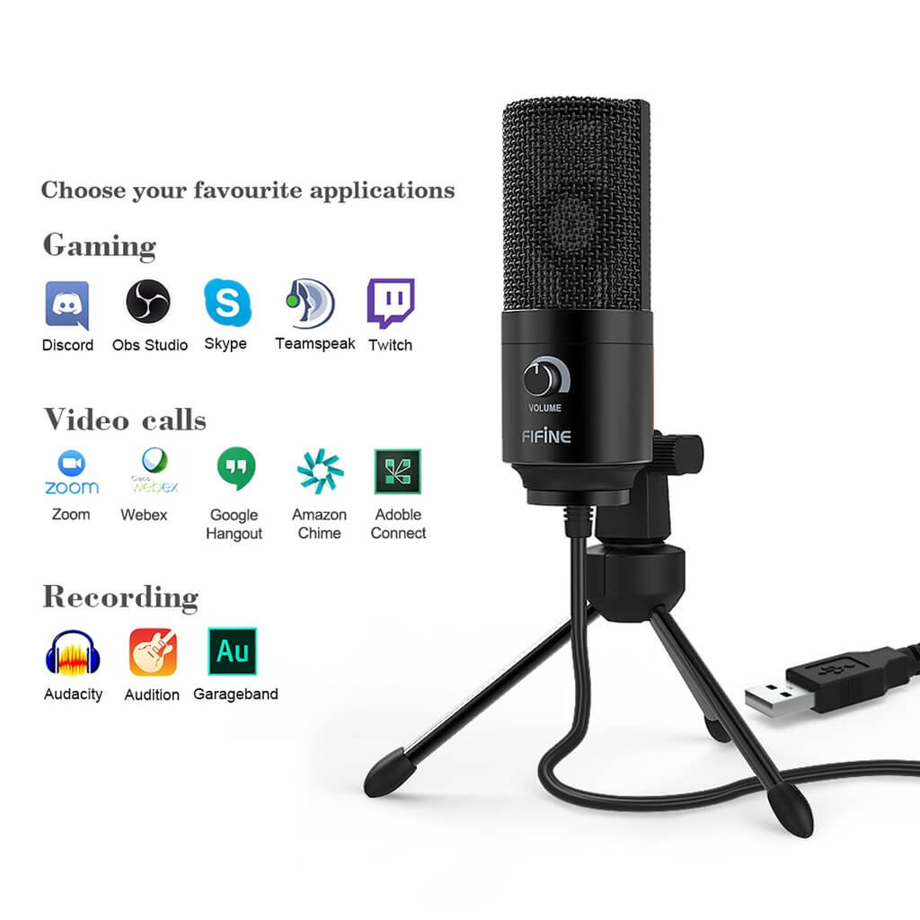 Fifine K669B USB Microphone 4