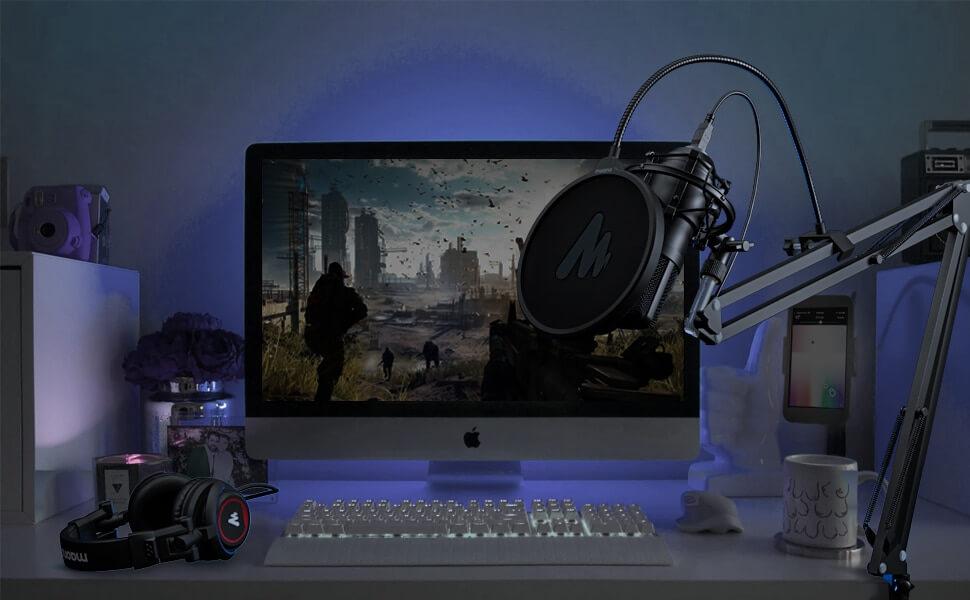 MAONO AU A04H USB Microphone Set with Studio Headphone Set 11