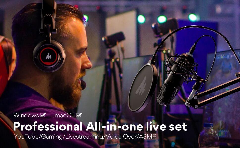 MAONO AU A04H USB Microphone Set with Studio Headphone Set 7
