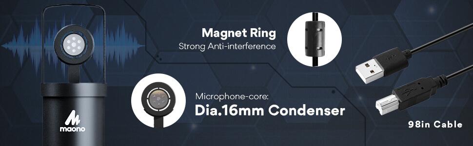 MAONO AU A04H USB Microphone Set with Studio Headphone Set 9