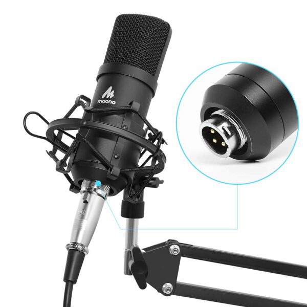 Maono AU-A03 Condenser Microphone Kit Podcast Mic