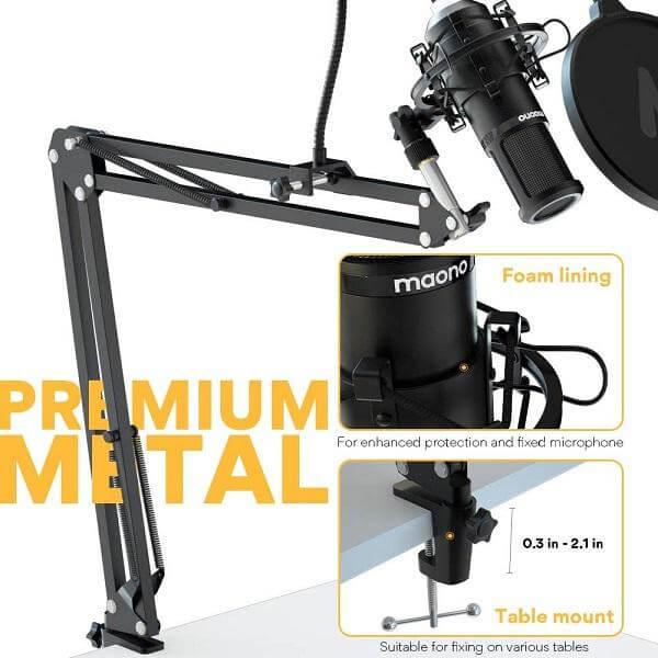 Maono PM420 USB Podcasting microphone kit