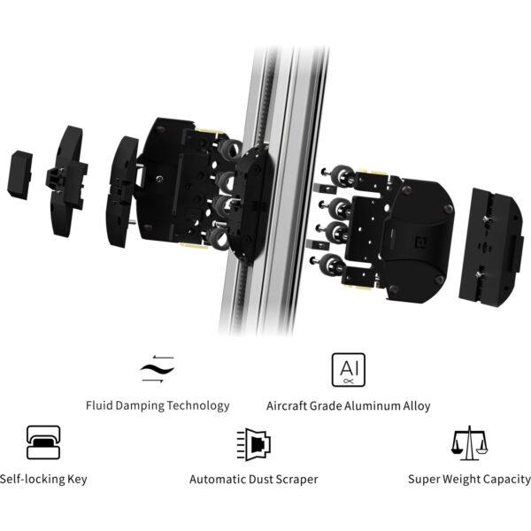 Zeapon Micro 2 Micro Rail Slider with EasyLock 2 Ball Head Bundle 13