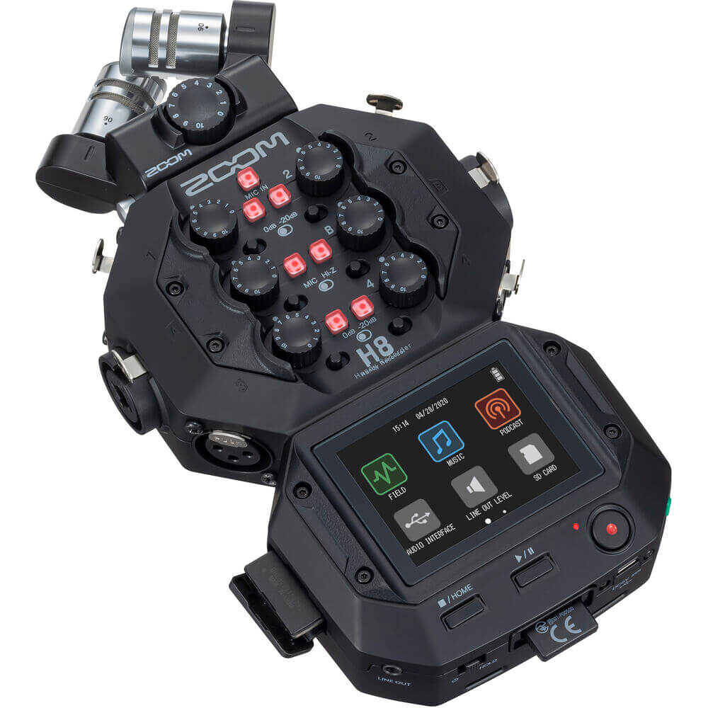 Zoom H8 8-Input / 12-Track Portable Handy Recorder