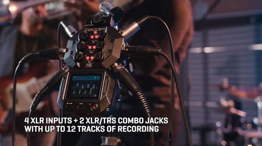 Zoom-H8_4-XLR-inputs+2-XLR-TRS-combo-jacks