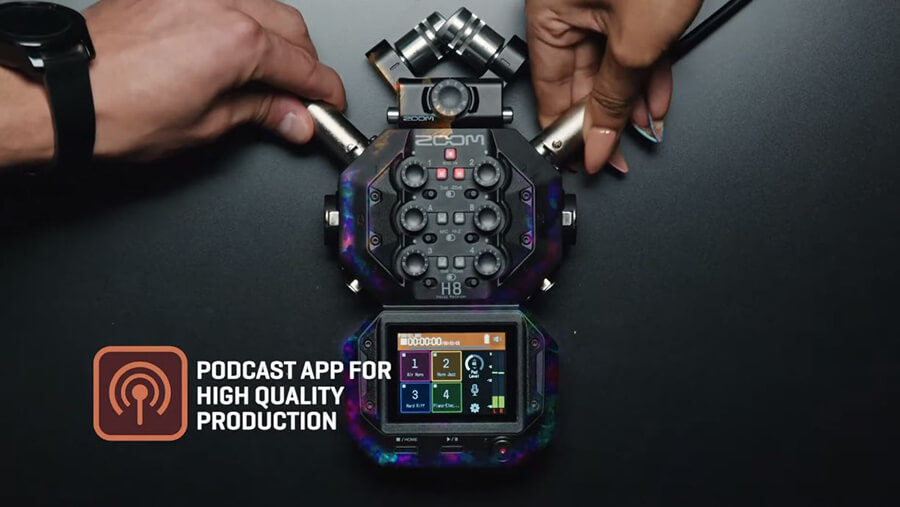 Zoom-H8_podcast-app-for-high-quality-production