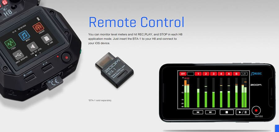 Zoom-H8_remote-control-for-ios-device