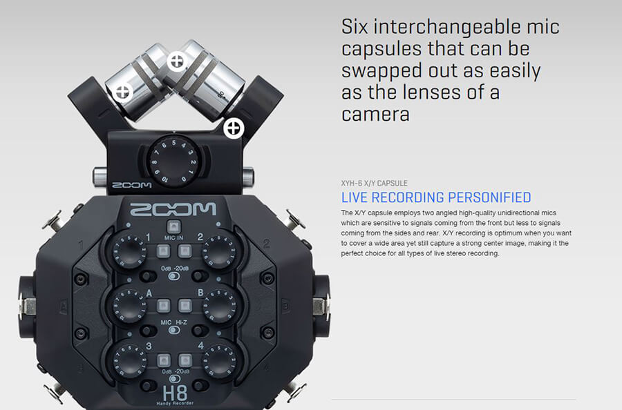 Zoom-H8_six-interchangeable-mic-capsule