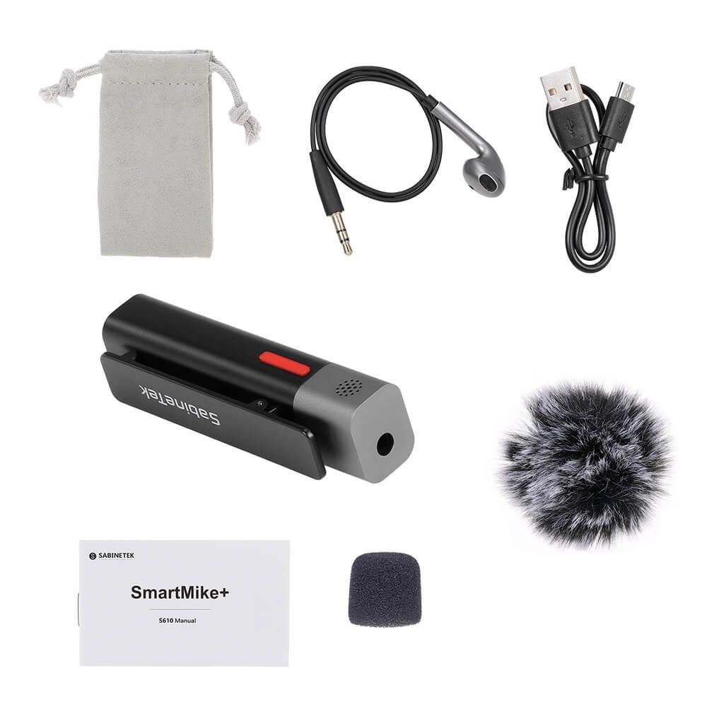 sabinetek smartmike wireless lavalier microphone 14