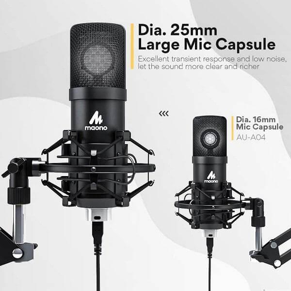 Maono AU A425 Professional Large Diaphragm Condenser USB Microphone SET 2