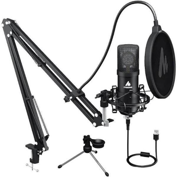 Maono AU A425 Professional Large Diaphragm Condenser USB Microphone SET1