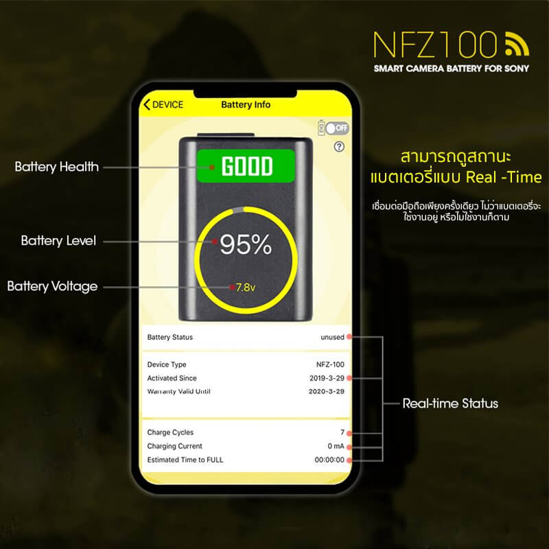 Nitecore Battery NFZ 100 for Sony A7 A9 Series 2