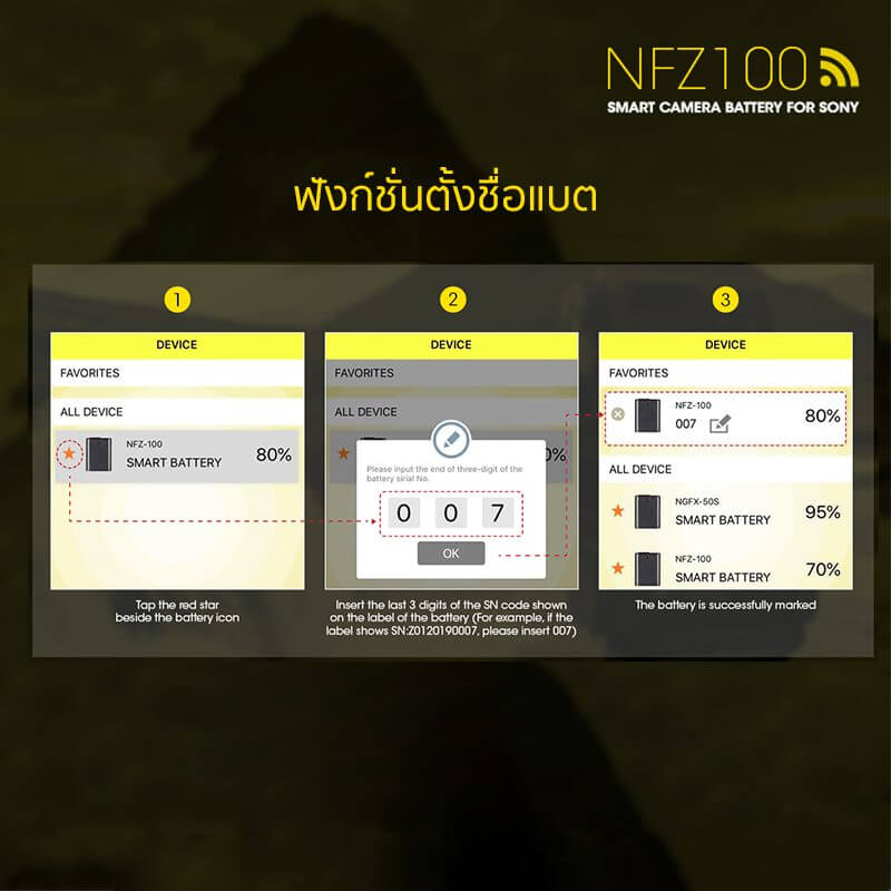 Nitecore Battery NFZ 100 for Sony A7 A9 Series 3