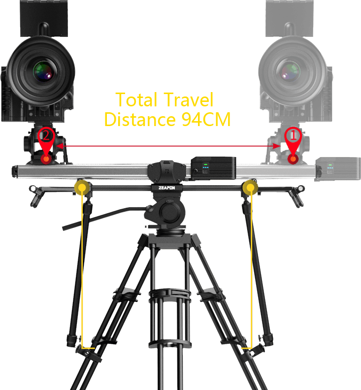 Zeapon Micro 2 E600 Motorized Double Distance Camera Slider 15