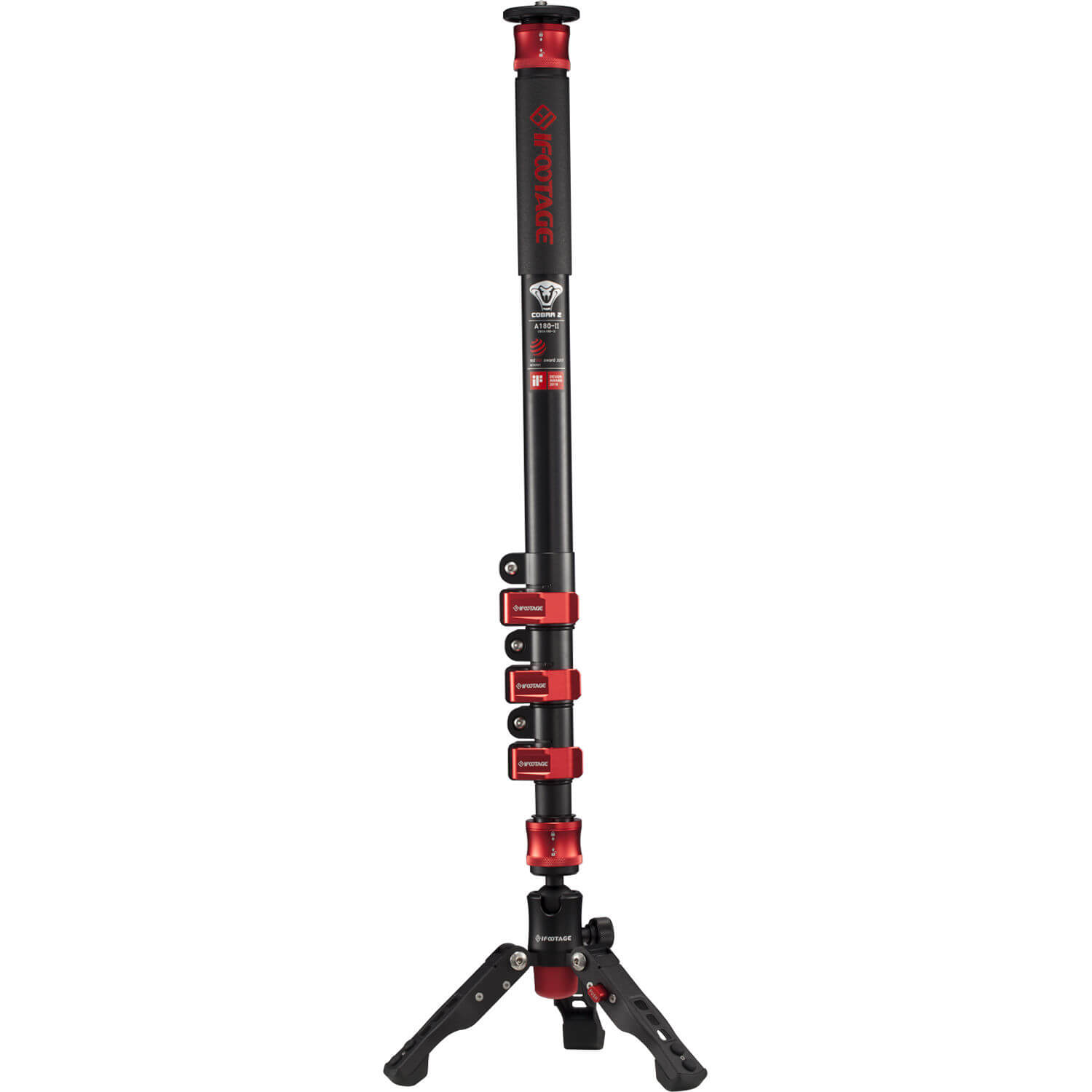 iFootage Cobra 2 A180 II Aluminum Monopod with Low Profile Tripod 2