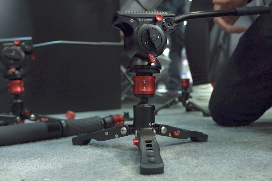 iFootage Cobra 2 A180 II Aluminum Monopod with Low Profile Tripod 9