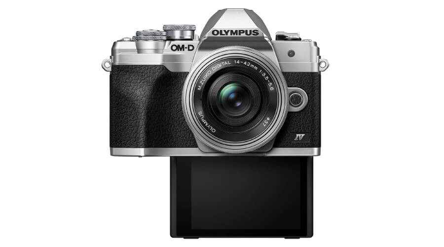 เปรียบเทียบ Olympus OM-D E-M10 IV รูปแบบจอ Flip Down