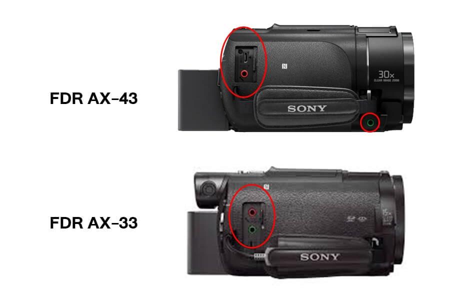 sony handycam AX43 Headphone port