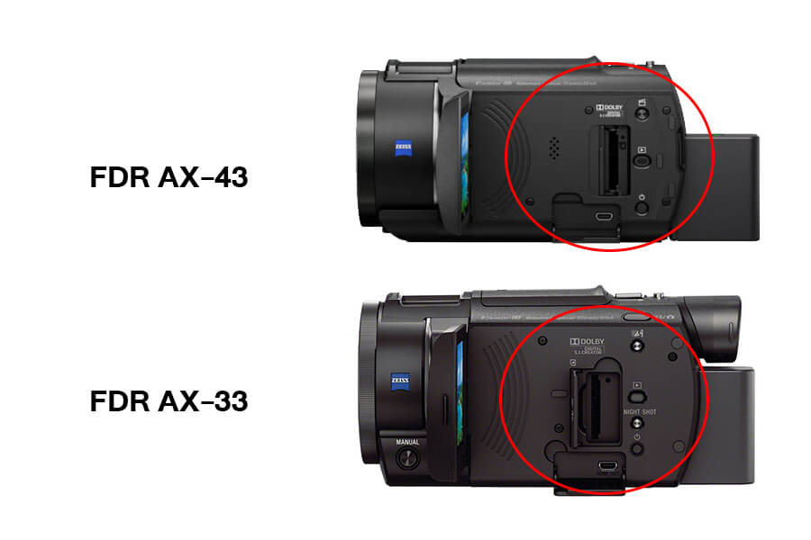 sony handycam AX43 side