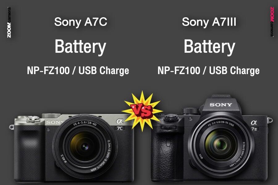 รีวิว เปรียบเทียบ sony a7c vs sony a7iii battery zoomcamera