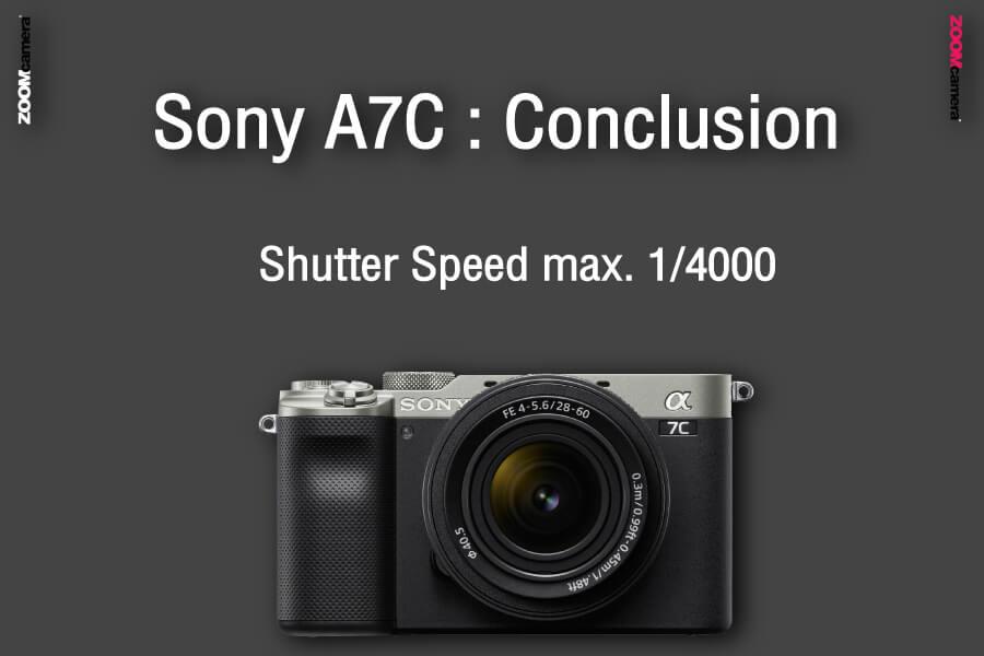 รีวิว เปรียบเทียบ sony a7c vs sony a7iii conclusion shutter speed zoomcamera