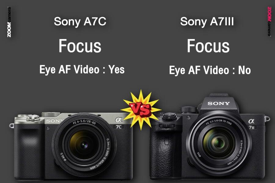 เปรียบเทียบ sony a7c vs sony a7iii eye af zoomcamera