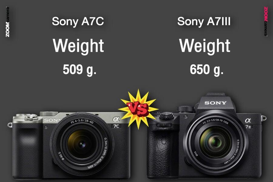 เปรียบเทียบ Sony A7C vs Sony A7III