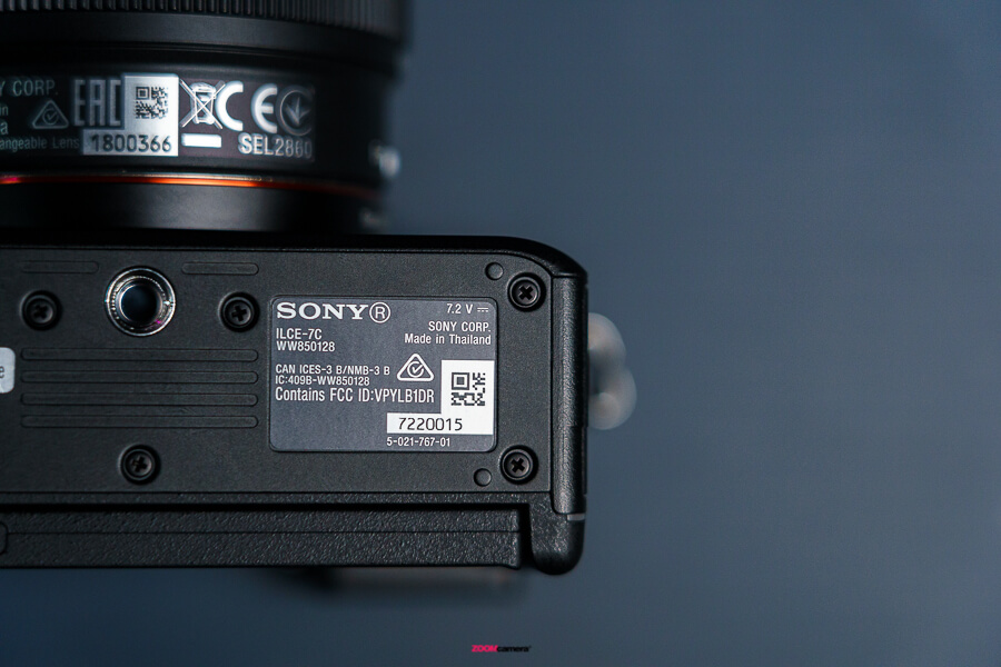 sony a7c made in thailand