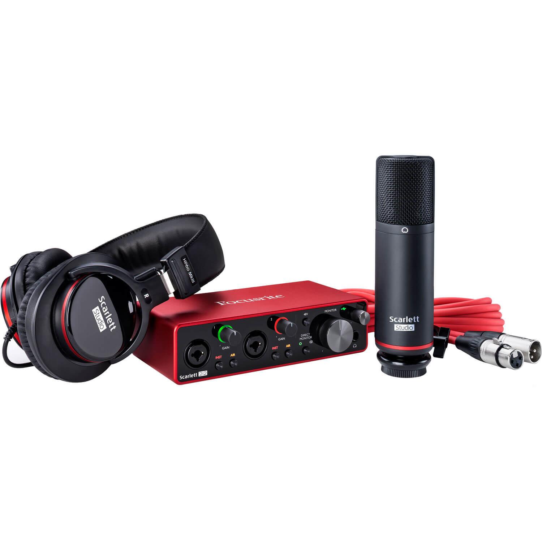 Focusrite Scarlett 2i2 Studio 2x2 USB Audio Interface with Microphone Headphones 3rd Generation 1
