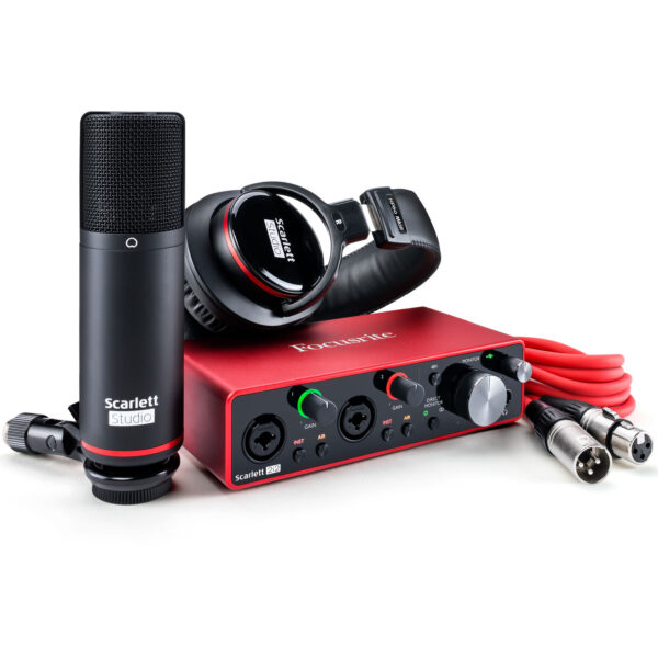 Focusrite Scarlett 2i2 Studio 2x2 USB Audio Interface with Microphone Headphones 3rd Generation 3