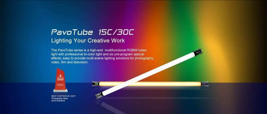Nanlite PavoTube 30C 4' RGBW LED Tube with Internal Battery