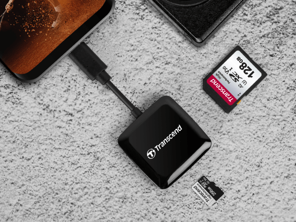 Transcend TS RDC3 USB C Card Reader 3.2 Gen1 for SDHCSDXC MicroSDHCMicroSDXC UHS I 8