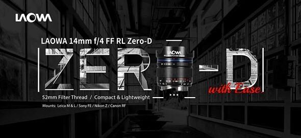 Venus Optics unveils Laowa 14mm F4 'Zero-D' lens