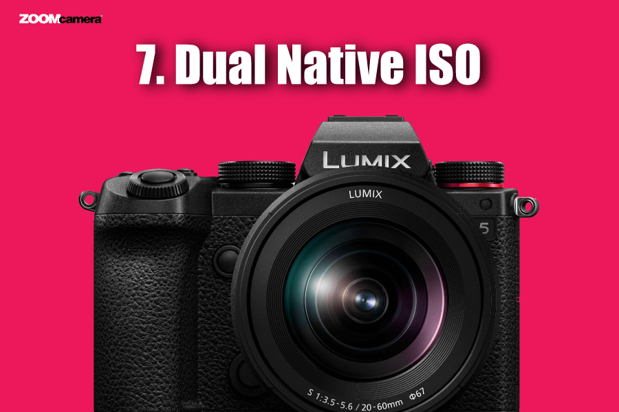 ฟีเจอร์ Panasonic Lumix S5 Dual Native ISO